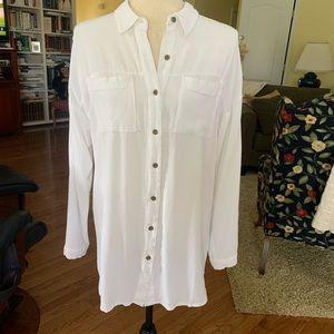 J. Jill white button down shirt